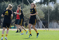 20180303 - LARNACA , CYPRUS :  Belgian Janice Cayman pictured during a Matchday -2 training from The Belgian Red Flames prior to their game against Austria , on Saturday 3 March 2018 at the Alpha Sports Grounds in Larnaca , Cyprus . This will be the third game in group B for Belgium during the Cyprus Womens Cup , a prestigious women soccer tournament as a preparation on the World Cup 2019 qualification duels. PHOTO SPORTPIX.BE | DAVID CATRY
