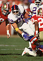 New York Giants Mark Jackson (89) during a game from his 1993 season with the New York Giants. Mark Jackson played for 10 years with 3 different teams.