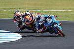 GP Moto Australia during the Moto World Championship 2014 in Phillip Island.<br /> Moto3<br /> alex rins<br /> jack miller<br /> Rafa Marrod&aacute;n/PHOTOCALL3000
