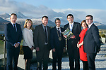 12/2/2018:  Pictured at the launch of Killarney Tourism Economic Impact Review (TEIR 1) report, compiled by W2 Consulting in Killarney at the Aghadoe Heights Hotel, Killarney on Monday were from left, Mark O'Connell, W2 Consulting, Niamh O'Shea, KCTC, John Sheahan Mayor of Kerry, Paul O'Neill, President of Killarney Chamber of Tourism and Commerce. Minister of State for Tourism and Sport Brendan Griffin, Siobhan Kissane and Hugh Gleeson, Bank of Ireland, Killarney.<br /> The report details the economic impact of tourism in Killarney, its strengths and weaknesses.  It follows a four month period of data gathering and analysis by strategic research consultants W2 Consulting.<br /> Photo: Don MacMonagle<br /> <br /> pr photo photo<br /> <br /> Further information: Eugene Hogan Bridge PR<br /> eugene.hogan@bridgepr.ie<br /> Tel:+353 (0) 87 2497290