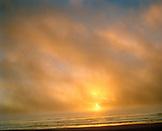 USA, California, San Francisco, Ocean Beach and the Pacific Ocean at sunset, Northern California
