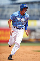 Elijah Dunham (2) of Reitz High School in Evansville, Indiana playing for the Kansas City Royals scout team during the East Coast Pro Showcase on August 3, 2016 at George M. Steinbrenner Field in Tampa, Florida.  (Mike Janes/Four Seam Images)
