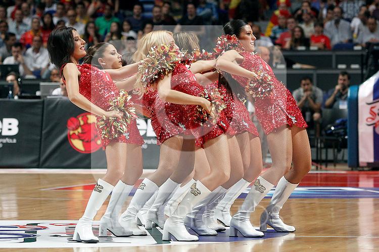 Spain's cheerleaders during friendly match Spain vs France.July 10,2012.(ALTERPHOTOS/ARNEDO)
