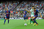 League Santander 2017/2018. Game: 01.<br /> FC Barcelona vs Real Betis: 2-0.<br /> Aissa Mandi vs Sergi Roberto.