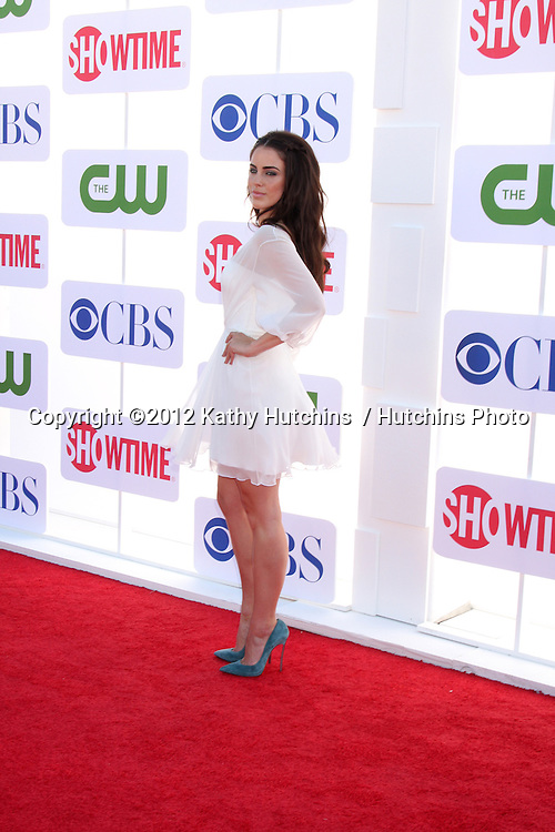 LOS ANGELES - JUL 29:  Jessica Lowndes arrives at the CBS, CW, and Showtime 2012 Summer TCA party at Beverly Hilton Hotel Adjacent Parking Lot on July 29, 2012 in Beverly Hills, CA