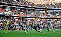 Picture by Simon Wilkinson/SWpix.com - 23/11/2013 - Rugby League - Rugby League World Cup Semifinals - New Zealand v England - Wembley Stadium, London, England - New Zealand's Shaun Johnson scores the winning try. Rugby League World Cup 2013 re edited 11/10/2017 Best Of