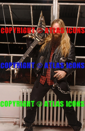 Zakk Wylde;  Black Label Society; Studio Session; In New York City, 2005<br /> Photo Credit: Eddie Malluk/Atlas Icons.com