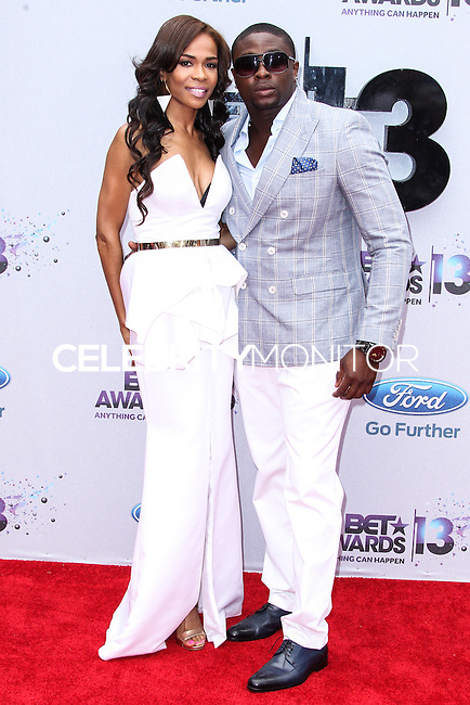 LOS ANGELES, CA - JUNE 30: Michelle Williams and Harmony Samuels attend the 2013 BET Awards at Nokia Theatre L.A. Live on June 30, 2013 in Los Angeles, California. (Photo by Celebrity Monitor)