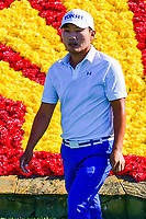 Sung Kang (USA) walks to the 18th tee  during round 1 of the Shell Houston Open, Golf Club of Houston, Houston, Texas, USA. 3/30/2017.<br /> Picture: Golffile | Ken Murray<br /> <br /> <br /> All photo usage must carry mandatory copyright credit (&copy; Golffile | Ken Murray)