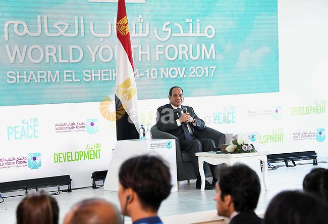 Egyptian President Abdel-Fattah al-Sisi takes part in the World Youth Forum in Sharm El Sheikh, Egypt, on Nov. 7, 2017. Photo by Egyptian President Office