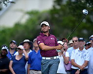 Bethesda, MD - June 27, 2014: Jason Day follows his tee shot on hole 3 in the second round of the Quicken Loans National at the Congressional Country Club in Bethesda, MD., June 27, 2014.  (Photo by Don Baxter/Media Images International)