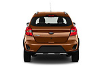 Straight rear view of a 2019 Ford KA + Active 5 Door Hatchback stock images