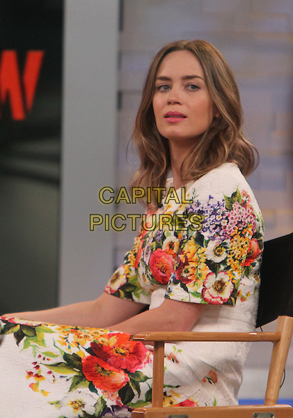 NEW YORK, NY - MAY 29: Emily Blunt at ABC's Good Morning America in New York City on May 29, 2014.  <br /> CAP/MPI/RW<br /> &copy;RW/ MediaPunch/Capital Pictures