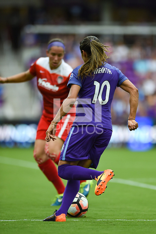 Orlando, FL - Saturday April 22, 2017: Marta Vieira Da Silva during a regular season National Women's Soccer League (NWSL) match between the Orlando Pride and the Washington Spirit at Orlando City Stadium.