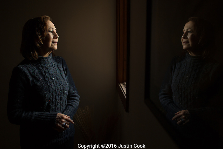 Blanca Nienhaus (CQ), Mexican-American, advocate for Hispanic immigrants, and founder of Latinos Unidos Promoviendo la Esperanza, at her home in Graham, NC on Friday, December 16, 2016. (Justin Cook for The New York Times)