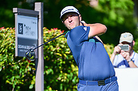 Jon Rahm (ESP) watches his tee shot on 15 during the round 1 of the Dean &amp; Deluca Invitational, at The Colonial, Ft. Worth, Texas, USA. 5/25/2017.<br /> Picture: Golffile | Ken Murray<br /> <br /> <br /> All photo usage must carry mandatory copyright credit (&copy; Golffile | Ken Murray)