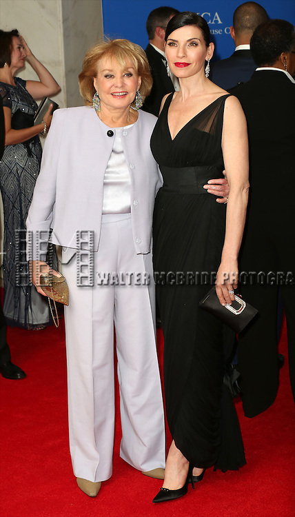 Barbara Walters and Julianna Margulies attends the 100th Annual White House Correspondents' Association Dinner at the Washington Hilton on May 3, 2014 in Washington, D.C.
