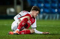Fleetwood Town's Harry Souttar nurses an injury<br /> <br /> Photographer Andrew Kearns/CameraSport<br /> <br /> The EFL Sky Bet League One - Wycombe Wanderers v Fleetwood Town - Tuesday 11th February 2020 - Adams Park - Wycombe<br /> <br /> World Copyright © 2020 CameraSport. All rights reserved. 43 Linden Ave. Countesthorpe. Leicester. England. LE8 5PG - Tel: +44 (0) 116 277 4147 - admin@camerasport.com - www.camerasport.com