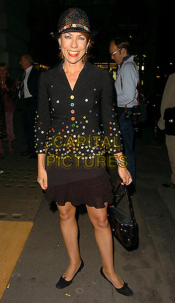 KATHY LETTE.Andy Gotts: Degrees - private view at Getty Images Gallery, W1, London..September 29th, 2005.full length black jacket sequins hat black skirt purse bag.www.capitalpictures.com.sales@capitalpictures.com.©Capital Pictures