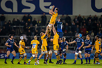 8th November 2019; AJ Bell Stadium, Salford, Lancashire, England; English Premiership Rugby, Sale Sharks versus Coventry Wasps; Will Rowlands of Wasps wins a lineout - Editorial Use