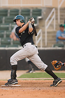 Nick Giarraputo (29) of the Savannah Sand Gnats follows through on his swing at Fieldcrest Cannon Stadium in Kannapolis, NC, Sunday July 20, 2008. (Photo by Brian Westerholt / Four Seam Images)