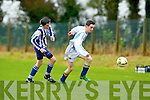 Cieran Griffin Castlemaine and Stephen Moloney Ballyhar in action in Ballyhar on Saturday