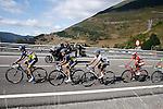 (L to R) Rafal Majka, Jesus Hernanadez, Alberto Contador and Joaquin Purito Rodriguez during the stage of La Vuelta 2012 between Gijon and Valgrande-Pajares (Cuitu Negru).September 3,2012. (ALTERPHOTOS/Paola Otero)