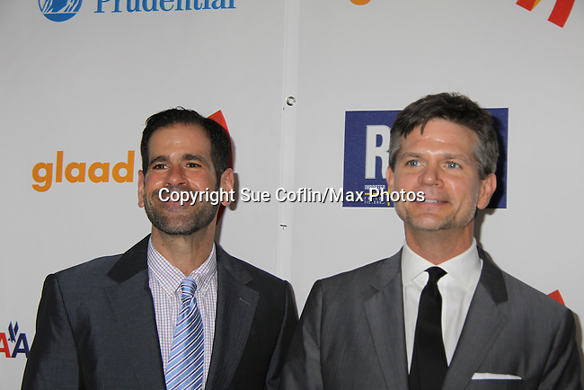 Josh Kilmer-Purcell & Brent Ridge at the 22nd Annual Glaad Media Awards honoring Ricky Martin (GH) & Russell Simmons on March 19, 2011 at the New York Marriott Marquis, New York City, New York. (Photo by Sue Coflin/Max Photos)