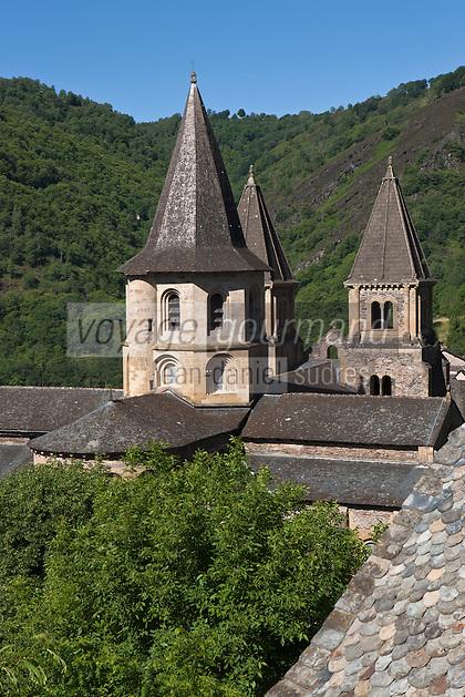 Europe/France/Midi-Pyrénées/12/Aveyron/Conques: L'abbatiale Sainte-Foy - le Chevet