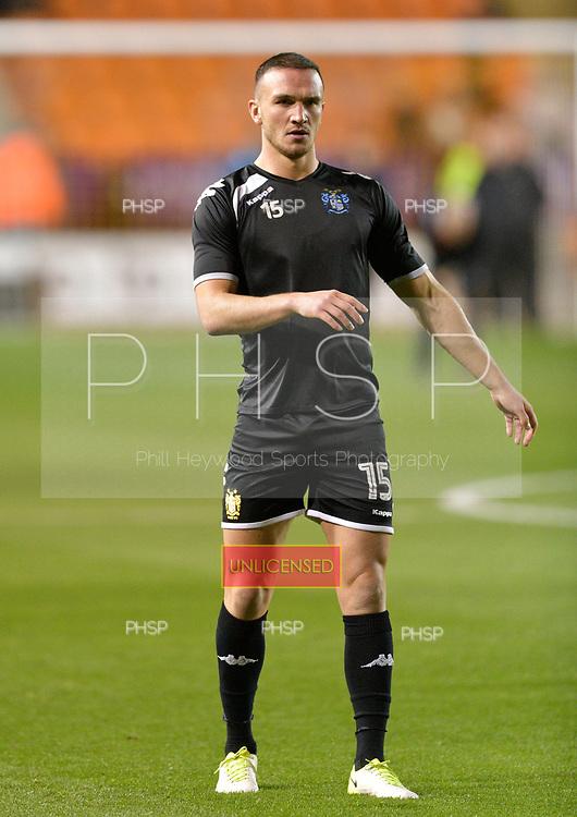 17/10/2017 Sky Bet League 1 Blackpool v Bury<br /> <br /> Tom Aldred, Bury FC