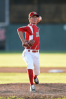 Batavia Muckdogs pitcher Scott Squier (41) delivers a warmup pitch during a game against the Lowell Spinners on July 16, 2014 at Dwyer Stadium in Batavia, New York.  Lowell defeated Batavia 6-4.  (Mike Janes/Four Seam Images)