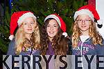 Julia Klorek, Laura Lovasek and Kasla Klorek at the Kenmare Christmas celebrations on Saturday night