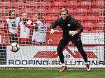 George Long of Sheffield Utd warms up during the Emirates FA Cup Round One match at Bramall Lane Stadium, Sheffield. Picture date: November 6th, 2016. Pic Simon Bellis/Sportimage
