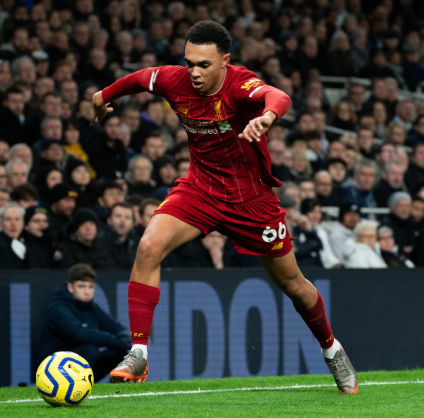 Liverpool's Trent Alexander-Arnold  <br /> <br /> Photographer Stephanie Meek/CameraSport<br /> <br /> The Premier League - Tottenham Hotspur v Liverpool - Saturday 11th January 2020 - Tottenham Hotspur Stadium - London<br /> <br /> World Copyright © 2020 CameraSport. All rights reserved. 43 Linden Ave. Countesthorpe. Leicester. England. LE8 5PG - Tel: +44 (0) 116 277 4147 - admin@camerasport.com - www.camerasport.com
