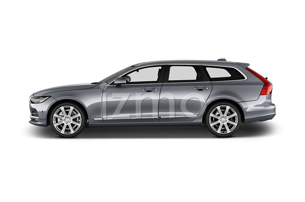 Car Driver side profile view of a 2017 Volvo V90 Inscription 5 Door Wagon Side View