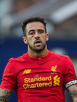 Danny Ings of Liverpool displays a nasty cut after a earlier incident during the 2016/17 Pre Season Friendly match between Tranmere Rovers and Liverpool at Prenton Park, Birkenhead, England on 8 July 2016. Photo by PRiME Media Images.