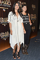10 June 2016 - Nashville, Tennessee - Lex LeBlanc and Alana LeBlanc of Listed Sisters. 2016 CMA Music Festival Nightly Press Conference held at Nissan Stadium. Photo Credit: AdMedia