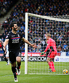 17th March 2018, The John Smiths Stadium, Huddersfield, England; EPL Premier League football, Huddersfield Town versus Crystal Palace; James Tomkins of Crystal Palace celebrates scoring in the 23rd minute to make it 0-1 after beating Jonas Lossl of Huddersfield Town from close range