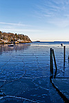 Winter view of Rockport Harbor, Rockport, Maine, USA