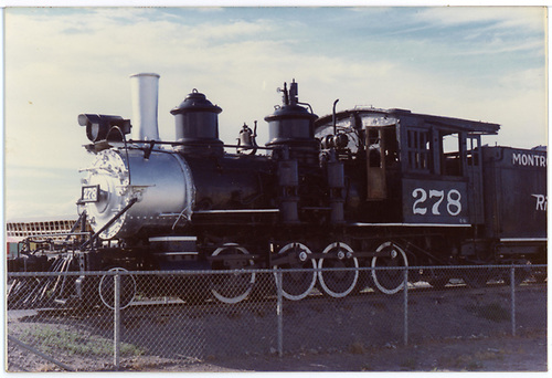 3/4 view of C-16 #278 on display at Montrose, CO.<br /> D&amp;RGW  Montrose, CO