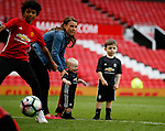 Coleen Rooney with sons Kit and Klay during the English Premier League match at the Old Trafford Stadium, Manchester. Picture date: May 21st 2017. Pic credit should read: Simon Bellis/Sportimage