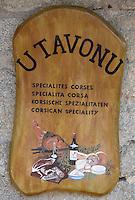 """Europe/France/2A/Corse-du-Sud/Porto-Vecchio: """"U Tavonu"""" boutique de produits corses-détail enseigne"""
