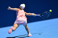 January 20, 2019: 15th seed Ashleigh Barty of Australia in action in the fourth round match against 30th seed Maria Sharapova of Russia on day seven of the 2019 Australian Open Grand Slam tennis tournament in Melbourne, Australia. Barty won 46 61 64. Photo Sydney Low