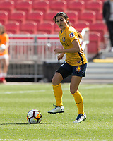 Sandy, UT - Saturday April 14, 2018: Brooke Elby during a regular season National Women's Soccer League (NWSL) match between the Utah Royals FC and the Chicago Red Stars at Rio Tinto Stadium.