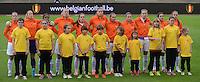 Belgian Red Flames - Nederland :<br /> <br /> Het team van Nederland tijdens de nationale hymne<br /> <br /> foto Dirk Vuylsteke / Nikonpro.be
