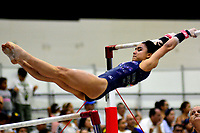 BARRANQUILLA - COLOMBIA, 22-07-2018: Ana Palacios, gimnasta de Guatemala, durante su participación en gimnasia mujeres modalidad Barras Asimétricas, como parte de los Juegos Centroamericanos y del Caribe Barranquilla 2018. /  Ana Palacios, gymnast from Guatemala, during her participation in women's gymnastics asymmetric bars, as a part of the Central American and Caribbean Sports Games Barranquilla 2018. Photo: VizzorImage / Alfonso Cervantes / Cont.