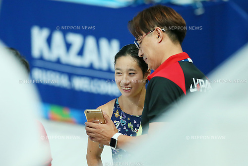 (L-R) Suei Mabuchi caoah, Minami Itahashi (JPN), JULY 29, 2015 - Diving : 16th FINA World Championships Kazan 2015 Women's 10m Platform Preliminary at Aquatics Palace in Kazan, Russia. (Photo by Yohei Osada/AFLO SPORT)
