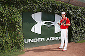 Pitcher Hunter Harvey (35) poses for a photo before the Under Armour All-American Game at Wrigley Field on August 18, 2012 in Chicago, Illinois.  (Copyright Mike Janes Photography)