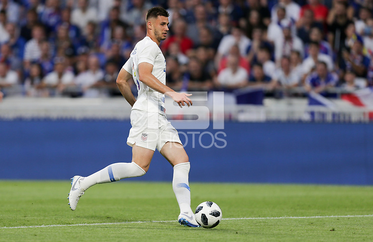Lyon, France - Saturday June 09, 2018: Matt Miazga during an international friendly match between the men's national teams of the United States (USA) and France (FRA) at Groupama Stadium.