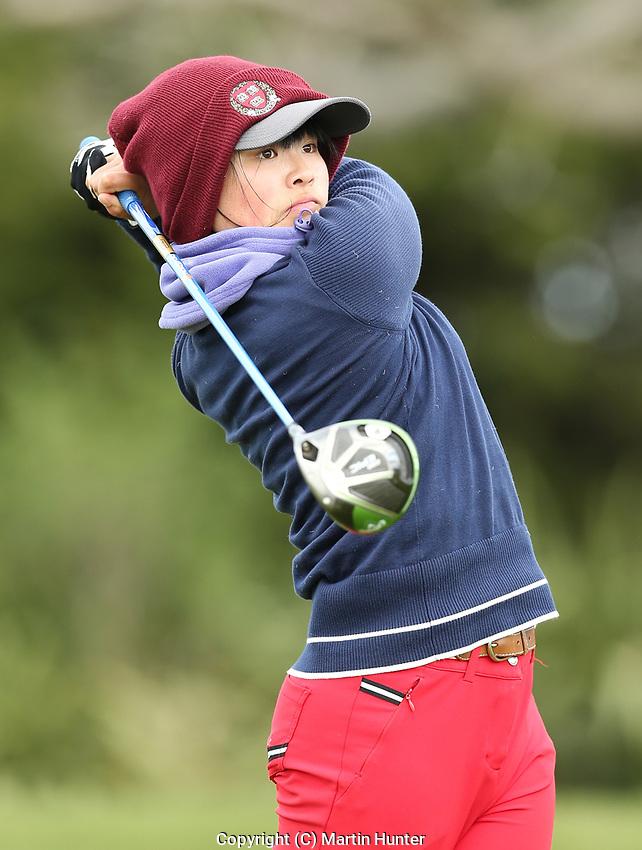 Mimi Guo. Jennian Homes Charles Tour, Pegasus Open, Christchurch, New Zealand, Thursday 3 October 2019. Photo Martin Hunter/www.bwmedia.co.nz